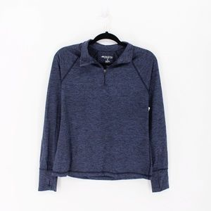 Ideology | Jersey Space Dye 1/4 Zip Pullover Top M
